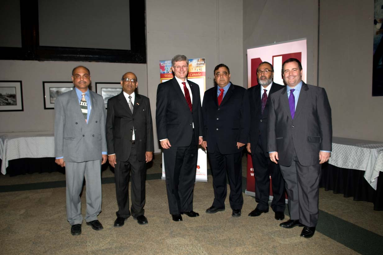 Daljit with Prime Minister Stephen Harper, Immigration Minister Jason Kenney, and Others at Diwali on the Hill 2010