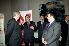 Rt. Hon. Stephen Harper, Prime Minister of Canada, Immigration Minister Jason Kenney, and Deepak Obhrai, Parliamentary Secretary for Foreign Affairs at Diwali on the Hill 2010