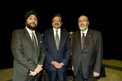 H.E. S. M. Govai, High Commissioner of India in Canada, and Jaideep Singh, Chief Editor, CanAsian Times, at Diwali on the Hill 2010