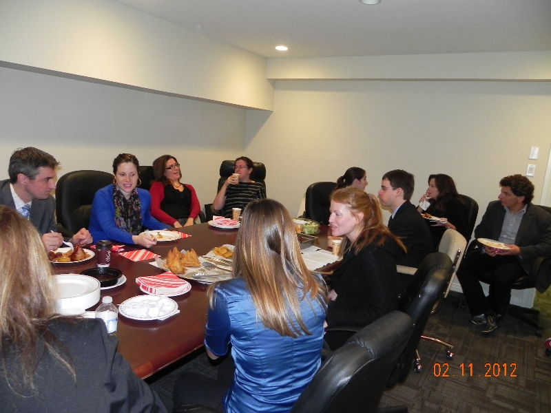 Celebrating Diwali 2012 with our neighbours at Greenspon, Brown & Associates
