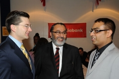 Daljit with Pierre Poilievre, MP and Harpreet Chhabra of CIBC at Nikki Virdee Fundraiser Dinner, January 2011