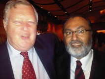 Daljit with the Honourable Mr. Justice Roger T. Hughes of the Federal Court of Canada, at the CBA Immigration Law Conference 2011