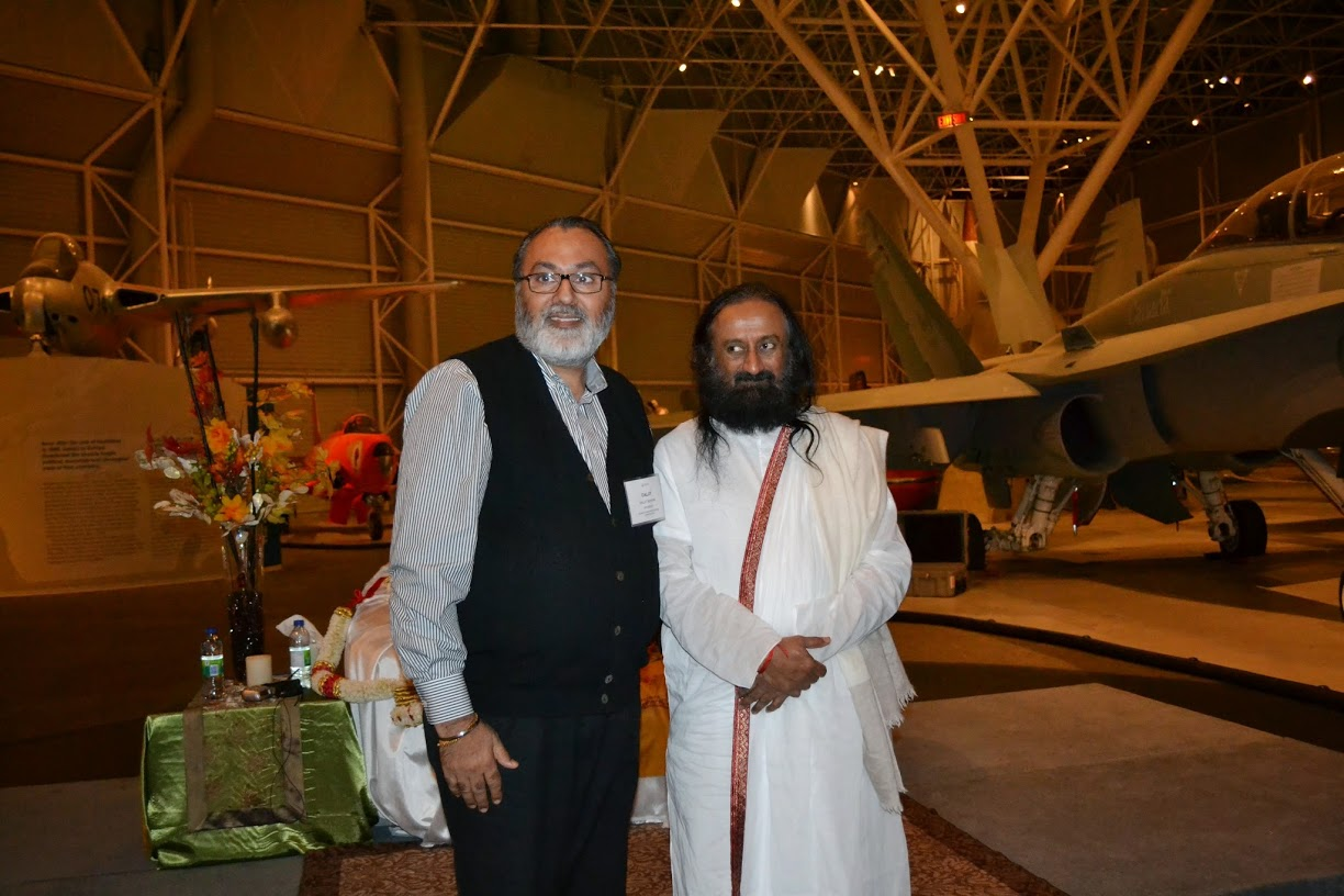 With H.H. Sri Sri Ravishankar during his visit to Ottawa in 2014