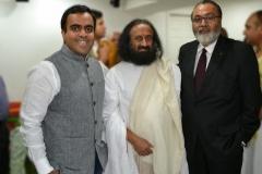 With H.H. Sri Sri Ravishankar during his visit to Ottawa in 2014