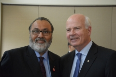 "Daljit with Peter Mansbridge, National News anchor of the CBC at the event ""Building Community, Building Canada"" organized by the United Way Ottawa on June 9, 2015"