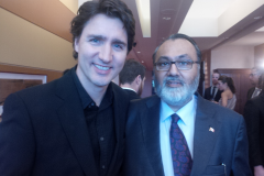 Daljit with the The Rt. Hon. Mr. Justin Trudeau, Prime Minister of Canada
