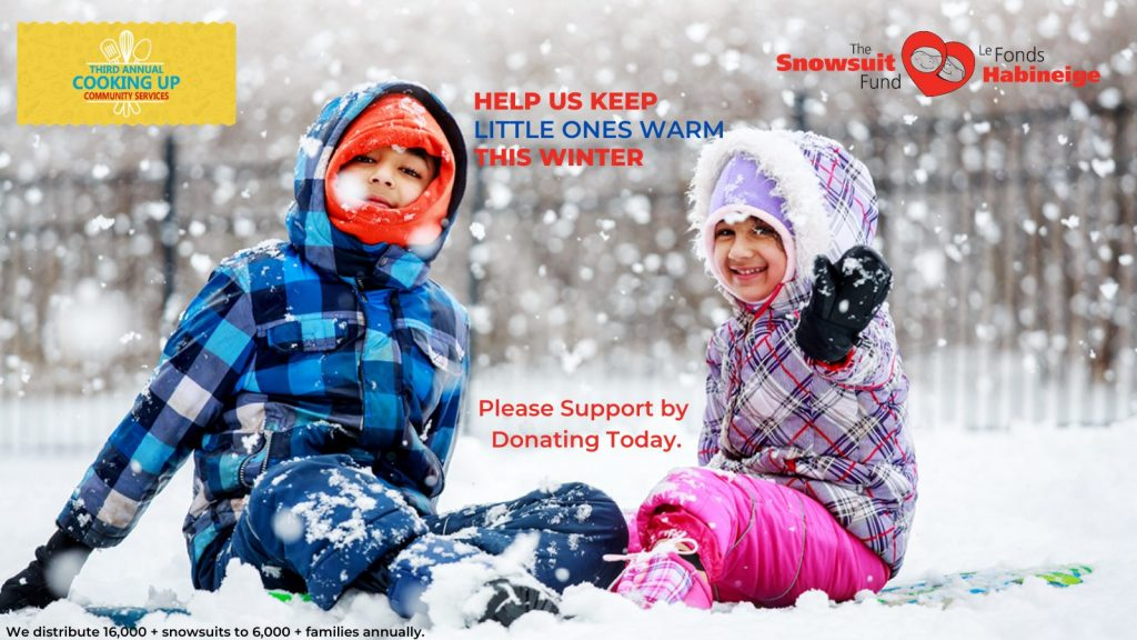 Third Annual – Cooking Up Community Services initiative for The Snowsuit Fund Ottawa